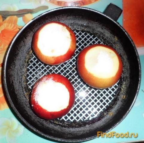 Яблоки запеченные с сахаром рецепт с фото 2-го шага