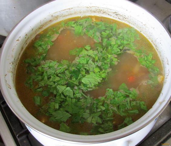 Чечевичный суп с курицей рецепт с фото 9-го шага