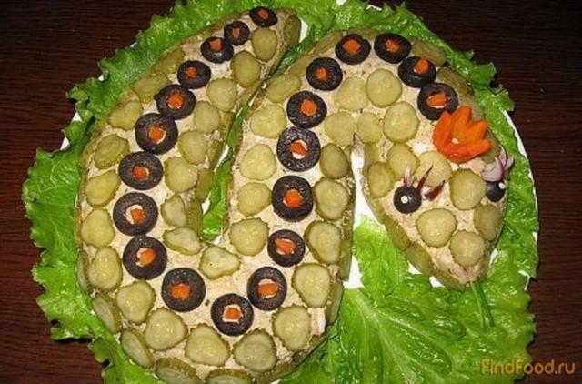 Салат Змейка рецепт с фото 5-го шага