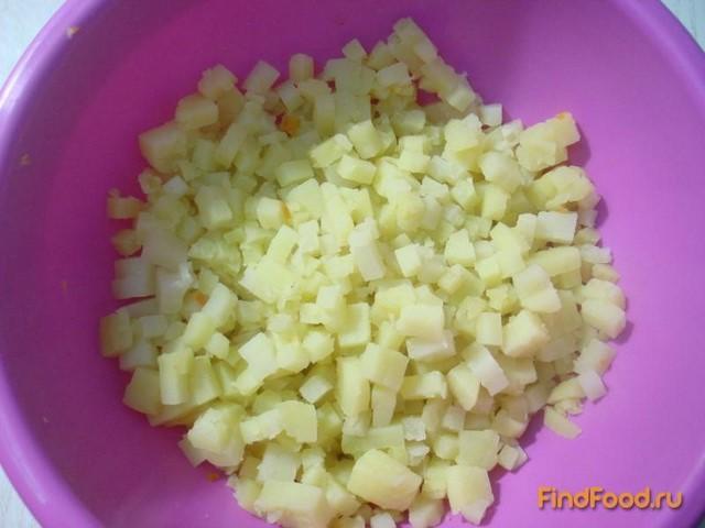 Винегрет с капустой и огурцами рецепт с фото 6-го шага