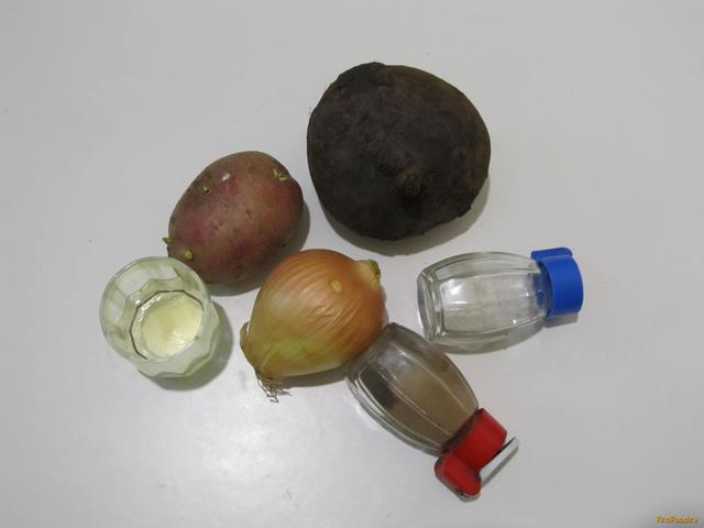 Салат из свеклы и картофеля рецепт с фото 1-го шага