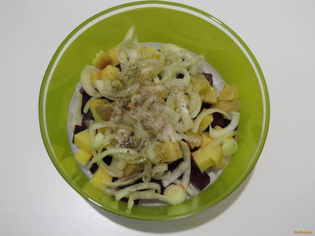 Салат из свеклы и картофеля рецепт с фото 4-го шага