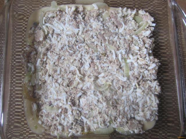 Рыбный пирог на жидком тесте рецепт с фото 8-го шага