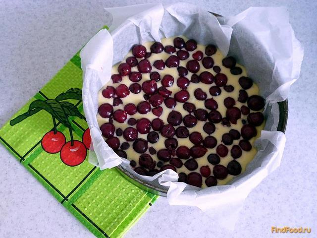 Простой вишнёвый пирог рецепт с фото 7-го шага