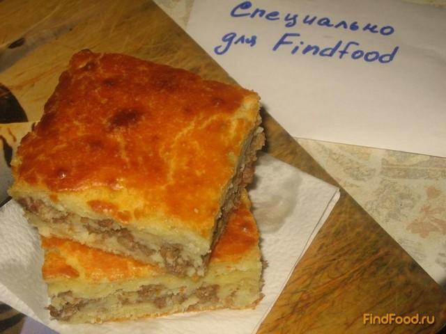 Пирог на кефире с мясным фаршем рецепт с фото 9-го шага