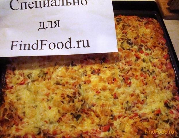 Домашняя пицца с колбасой рецепт с фото 18-го шага
