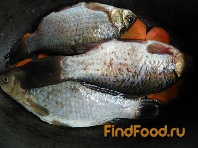 Тушеная рыба с луком и морковью рецепт с фото 4-го шага