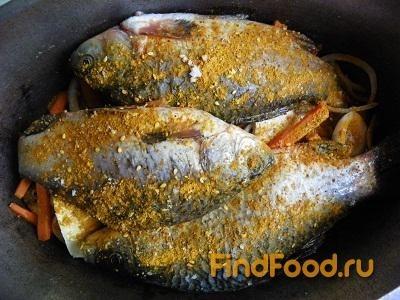 Тушеная рыба с луком и морковью рецепт с фото 8-го шага