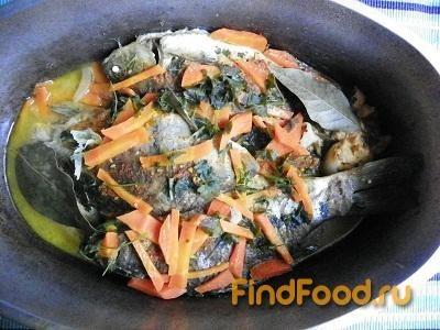 Тушеная рыба с луком и морковью рецепт с фото 15-го шага