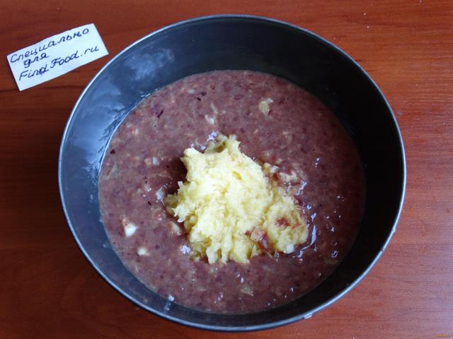 Печеночно-картофельные оладьи рецепт с фото 4-го шага