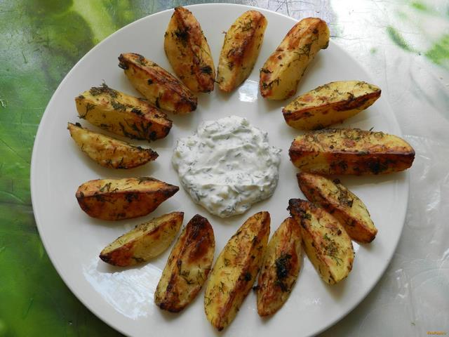 Картофель по-деревенски в аэрогриле рецепт с фото 9-го шага