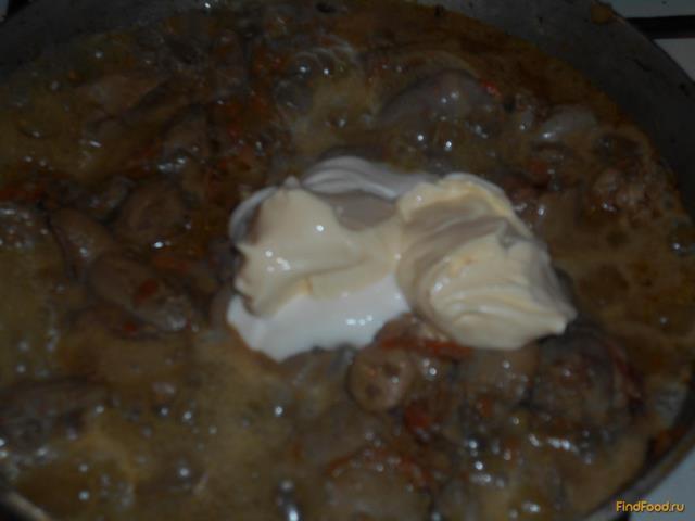 Куриная печень с майонезом рецепт с фото 7-го шага