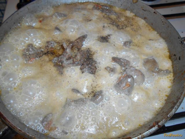 Куриная печень с майонезом рецепт с фото 8-го шага
