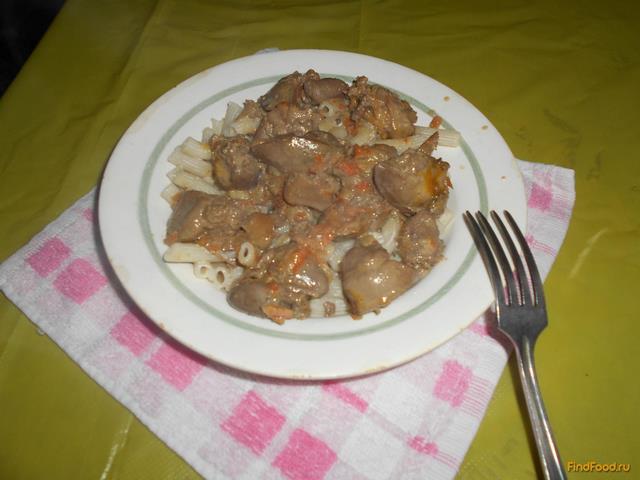 Куриная печень с майонезом рецепт с фото 9-го шага