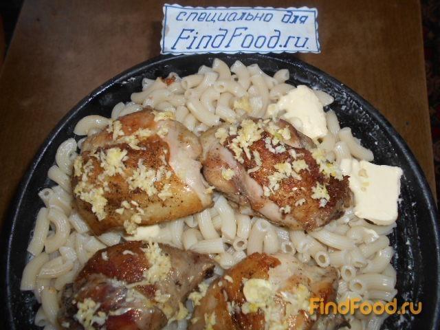 Запеканка из макарон с куриными окорочками рецепт с фото 8-го шага
