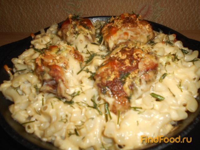 Запеканка из макарон с куриными окорочками рецепт с фото 10-го шага