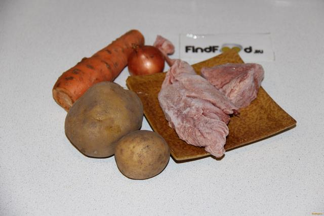 Индейка тушеная с картофелем рецепт с фото 1-го шага