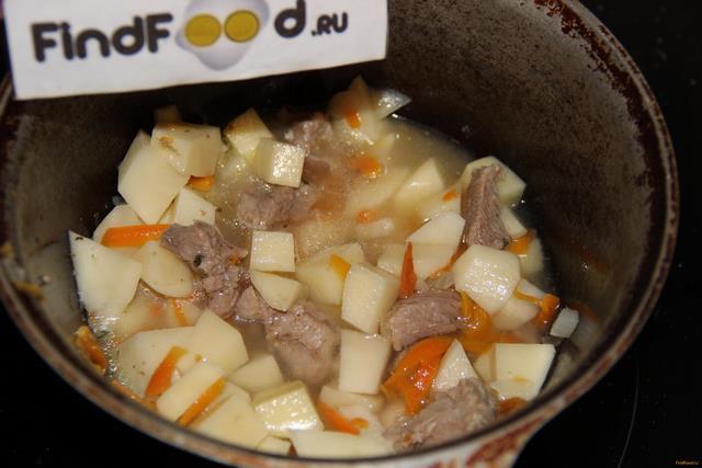 Индейка тушеная с картофелем рецепт с фото 8-го шага