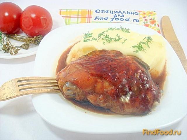Куриные бёдра в соево-томатном соусе рецепт с фото 9-го шага