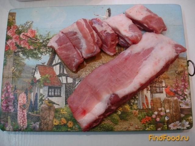 Свиные рёбрышки запеченные с чесноком рецепт с фото 1-го шага