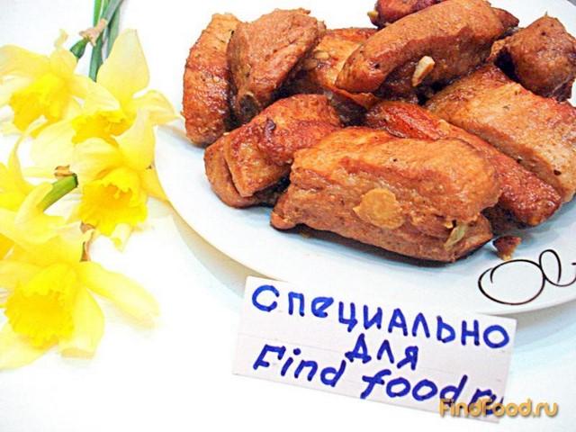 Свиные рёбрышки запеченные с чесноком рецепт с фото 7-го шага