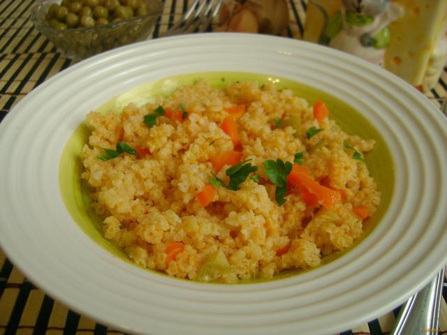 Рецепт Каша пшенная с морковью и кабачком рецепт с фото