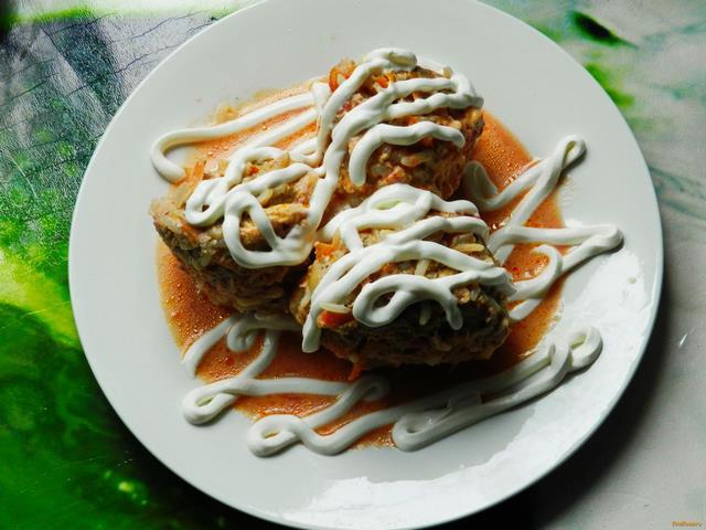 Рецепт Мясные ежики в томатно-сливочном соусе рецепт с фото