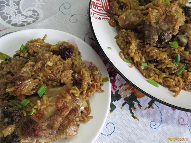 Рецепт Куриные бедра с рисом и вермишелью рецепт с фото
