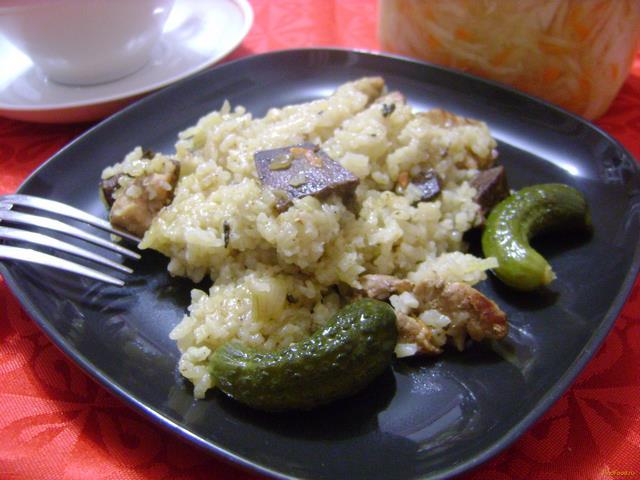 Рецепт Рис со свининой и печенью рецепт с фото