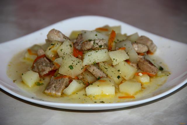 Рецепт Картофель со свининой рецепт с фото