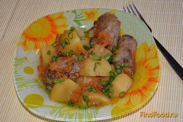 Рецепт Индюшиные шеи тушеные с картофелем рецепт с фото
