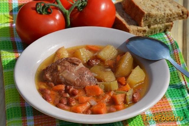 Рецепт Айнтопф с курицей и фасолью рецепт с фото