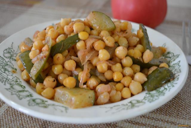 Рецепт Жареные огурцы с нутом рецепт с фото