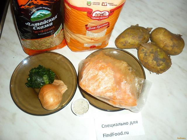 рецепт с чечевицей и свининой в мультиварке
