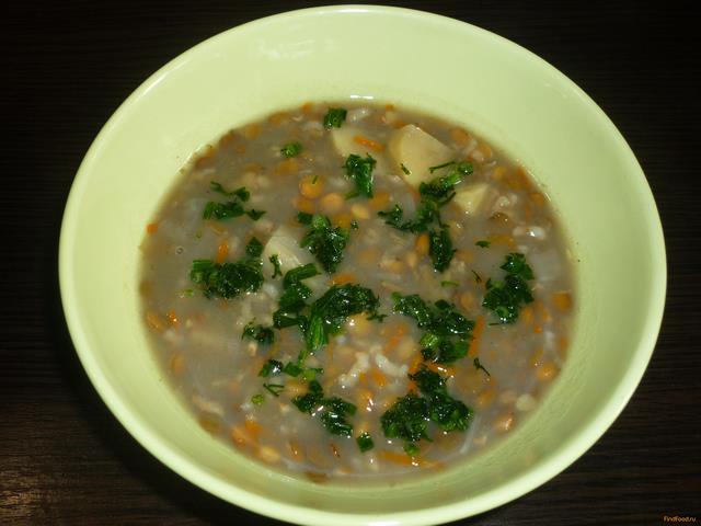 Рецепт Суп с чечевицей и рисом в мультиварке рецепт с фото