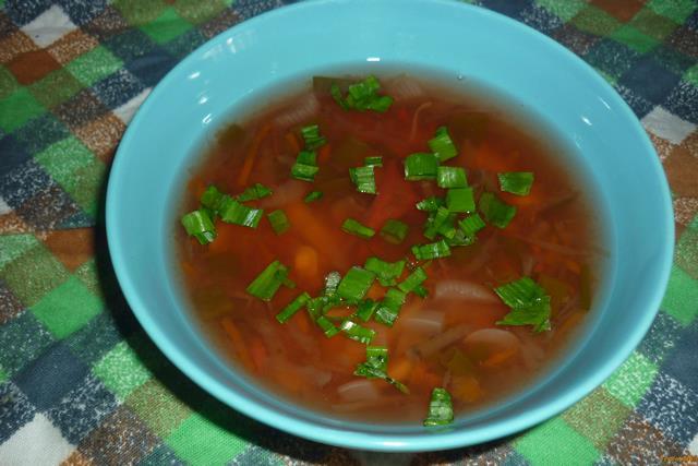 Рецепт Постный суп со свеклой и белой фасолью в мультиварке рецепт с фото