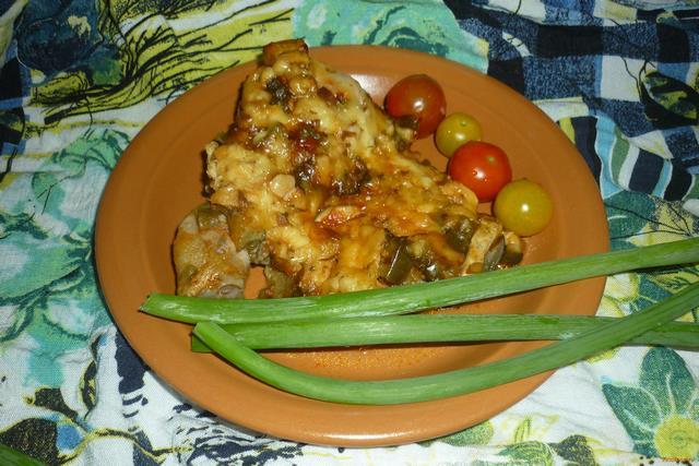 Рецепт Курица с баклажанами и сыром в мультиварке рецепт с фото
