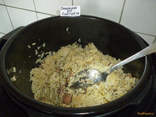 Рис с куриной печенью в мультиварке рецепт с фото 19-го шага