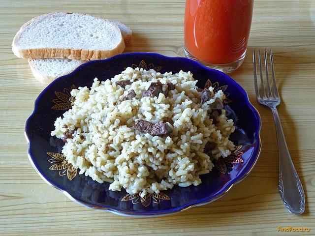 Рис с куриной печенью в мультиварке рецепт с фото 20-го шага