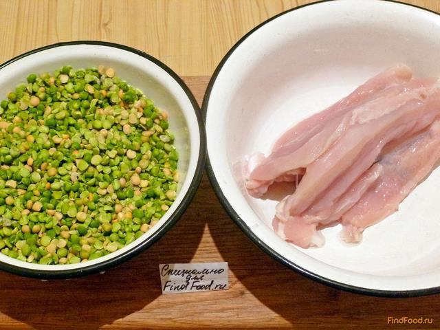Гороховый суп с курицей пошагово с фото
