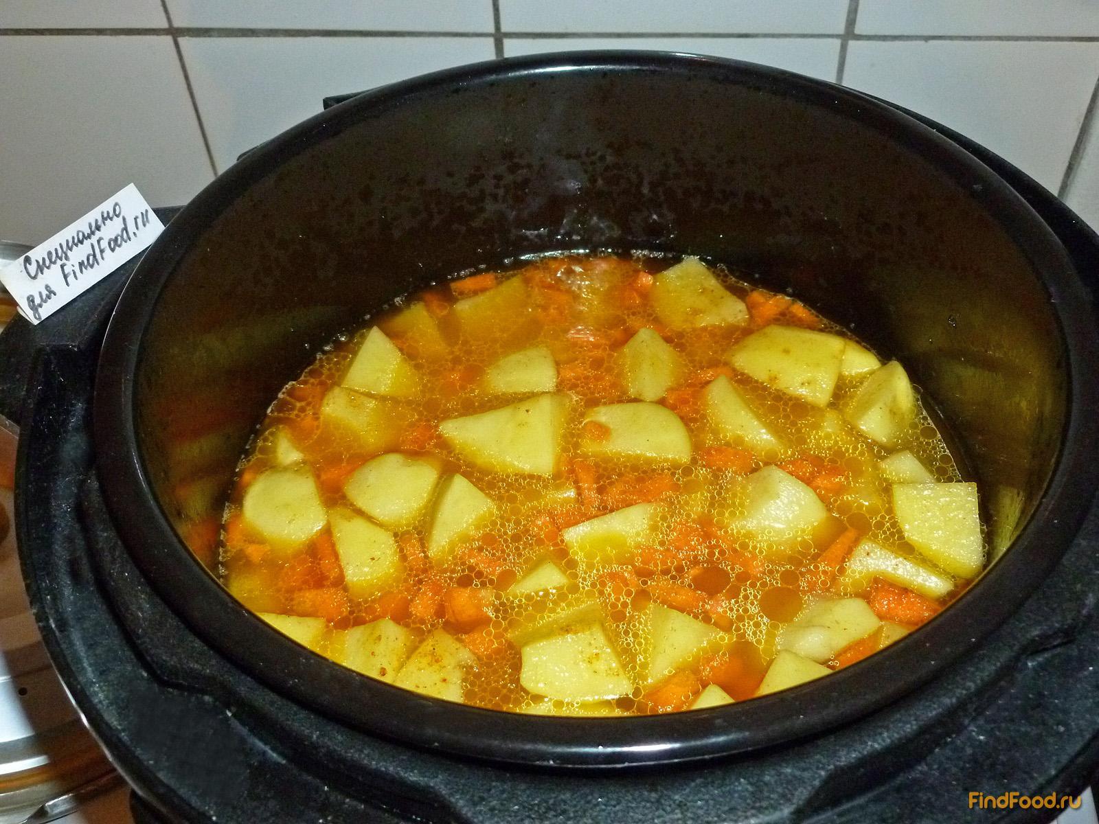 Картошка с мясом в мультиварке редмонд пошагово