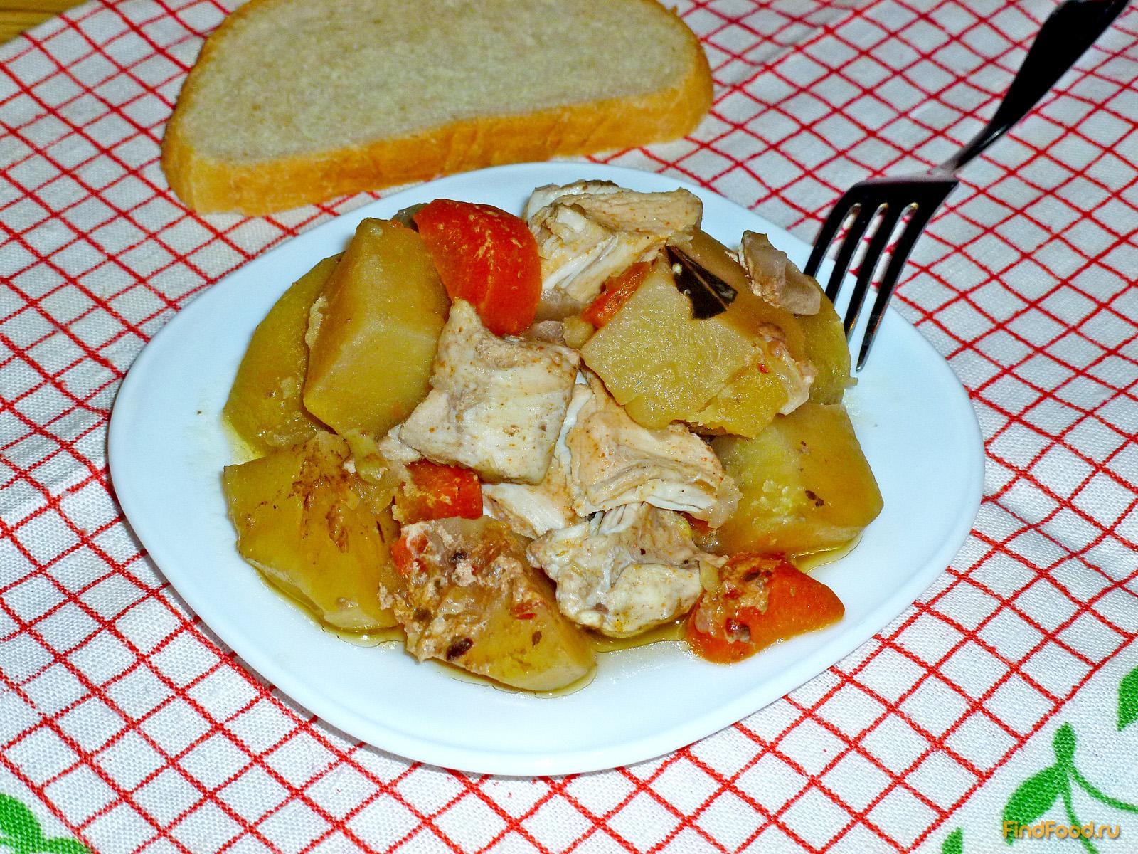 рецепт жаркое из курицы в мультиварке рецепты