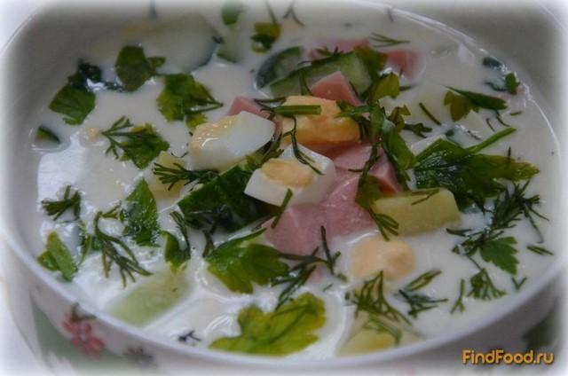 рецепт окрошки на кисломолочном продукте