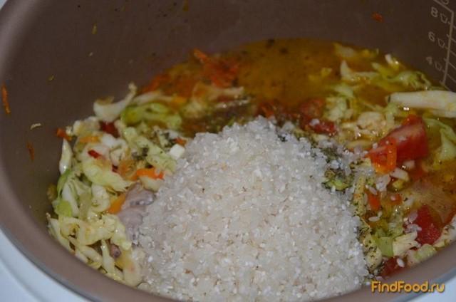 рис с капустой и курицей