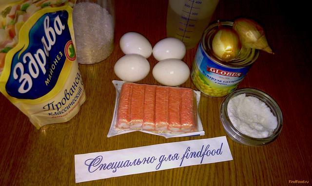 рецепт салата из крабовых палочек и шампиньонов рецепт