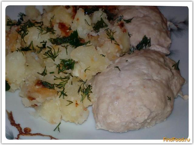 Рецепт Картошка с паровыми котлетами рецепт с фото