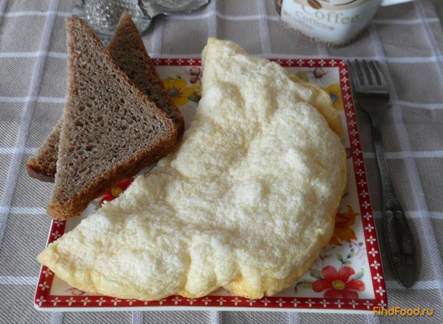 Рецепт Пышный омлет со сливками рецепт с фото