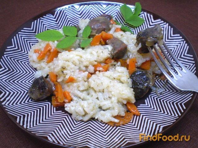 Рецепт Рисовая каша с утиными желудками в мультиварке рецепт с фото