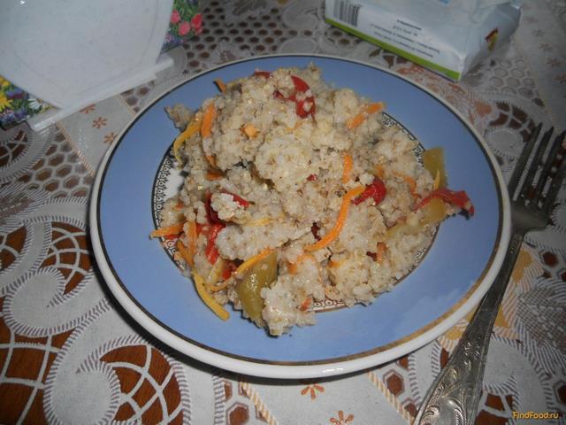 Рецепт Ячневая каша с овощами рецепт с фото