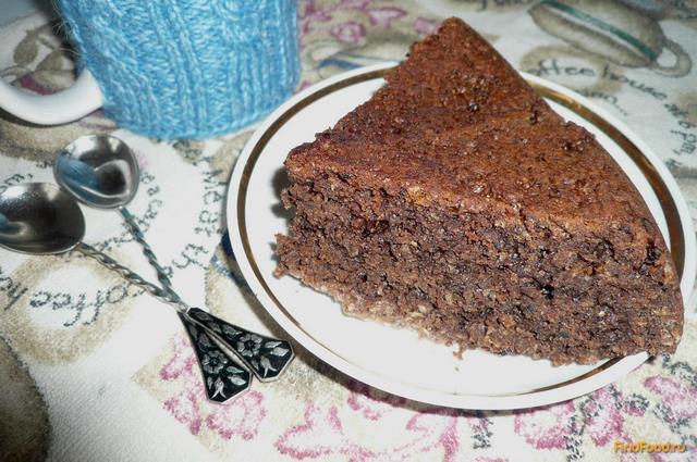 Рецепт Овсяный пирог с вишневым вареньем рецепт с фото